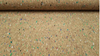 Cork Colors fabric - Cork fabric coloured widely used in technical crafts to make bags, wallets, decorations in florists...It is a thin fabric and on top a layer of flexible and manageable cork, making it an easy fabric to cut and sew.