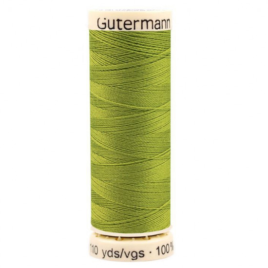 100m Polyester Sew-all Thread fabric - Universal Sew-all polyester thread from the prestigious Gütermann brand. You can sew by machine and by hand, all kinds of fabrics of natural, mixed and synthetic fibers. Gütermann threads are strong and flexibl