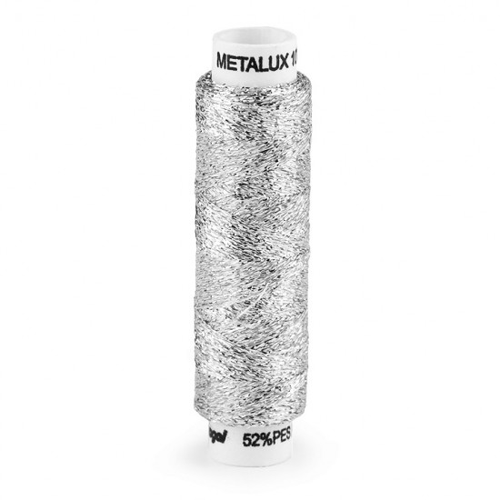 Embroidered Metallic Thread 100m - Metallic thread to give an original and brilliant spark to your embroidery. This lurex thread is ideal for hand embroidery and is approximately 0.2mm thick.