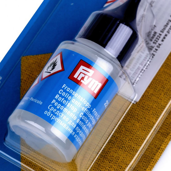 Prym Anti-Fray Adhesive fabric - Prym adhesivefor anti-fraying fabric. This colorless glue will help reinforce the edges of the fabrics after cutting.