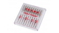 Universal Organ Sewing Needles Assortment - Assortment of 10 universal sewing needles from the Japanese brand Organ, for sewing most fabrics and materials.