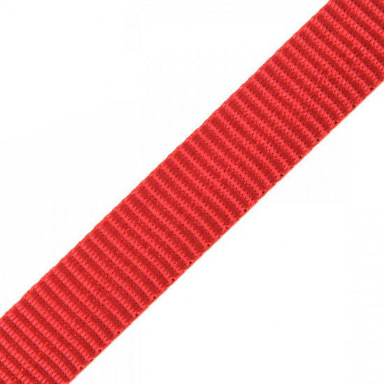 Polypropylene Webbing 15mm haberdashery - Polypropylene webbing or strap, used mainly in the manufacture of bags, backpacks, upholstered furniture strings, chairs ... It can also be used as a component or complement of outdoor clothing. The tape measures