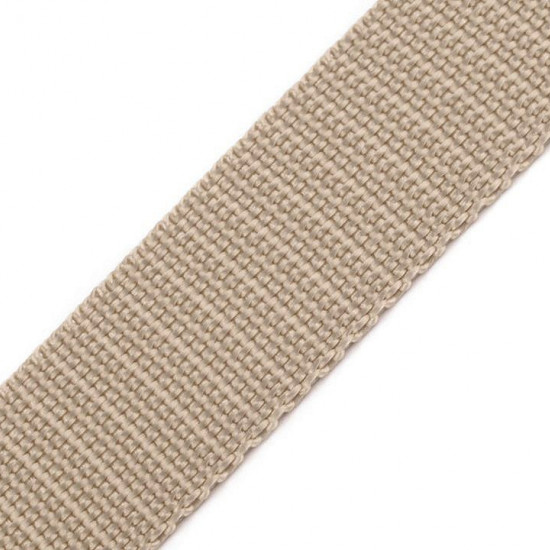 Polypropylene Webbing 20mm - Polypropylene webbing or strap, used mainly in the manufacture of bags, backpacks, chairs, upholstered furniture strings... It can also be used as a complement of outdoor clothing.