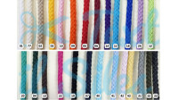 Recycled Cotton Cord 4mm haberdashery - 4mm wide recycled cotton cord. National manufacturing. The cord is widely used in clothing, accessories... and crafts such as macramé or crochet.