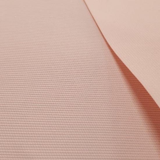 OUTLET Piqué Liso Rosa fabric - Tela de piqué canutillo liso en color rosa pálido. La tela mide 80cm de ancho y su composición 65% Poliester - 35% Algodón. Tela Barata Liquidación Outlet