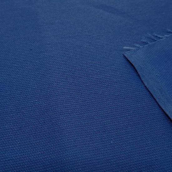 Tela OUTLET Piqué Liso Azul - Tela de piqué canutillo liso en color azul. La tela mide 80cm de ancho y su composición 65% Poliester - 35% Algodón. Tela Barata Liquidación Outlet