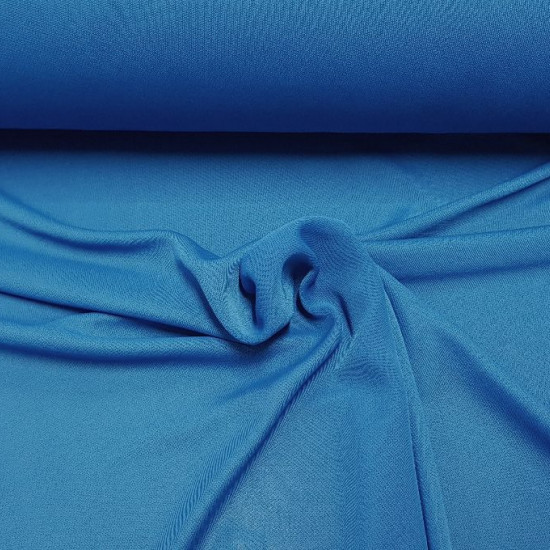 OUTLET Fine Knitted Blue fabric - Finely knitted fabric in blue, with quite a fall, semi-transparent The fabric is 75cm wide and its composition 100% polyester Outlet Fabric Cheap Clearance