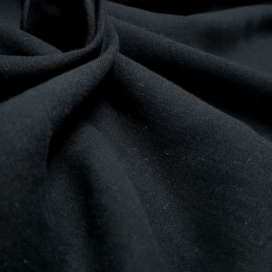 OUTLET Fine Cotton Black fabric - Very thin and light fabric, cotton gauze type, in black color. The fabric is 100cm wide and its composition 100% cotton. Cheap Fabric Clearance Outlet