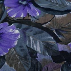 Viscosilla Flowers Lilacs Gray Brown