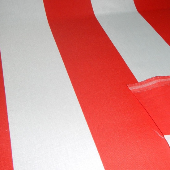 Red and White Flag fabric - Red and white flag fabric with red and white stripes. Ideal for Atlético de Madrid / Athletic Club Bilbao flags, among other teams. The fabric is 80cm wide and its composition cotton and polyester.