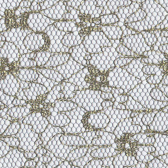 Tulle Aureo Golden Black fabric - Semi-transparent tulle fabric (veil) in black with gold glitter motifs. The fabric is 150cm wide and its composition 100% polyamide