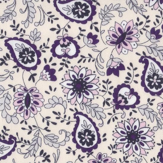 Tela Viella Flores Dibujo 2 - Tejido de Viella estampado con motivos florales