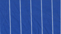 OUTLET Crepe Fine Striped White Blue fabric - Crepe fabric printed with thin white stripes on a blue background. Cheap clearance Outlet fabric
