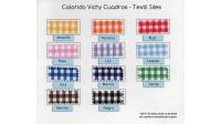 Tela Vichy Cuadros Extra Grandes - El tejido de vichy se utiliza mucho en mantelería, cortinas para la cocina, batas de parvulario y otras manualidades y decoraciones. El cuadro tiene unas medidas de 19x15mm.