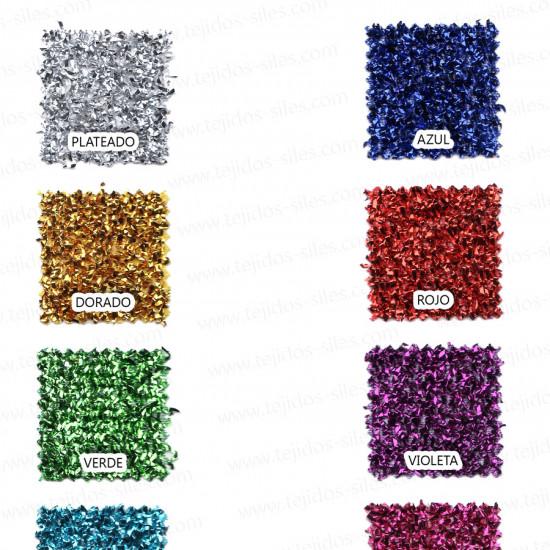 """Tela Esponja Lurex - Tejido con """"hilos"""" hecho con material lurex, que lo hace brillante y muy llamativo. Ideal para carnaval y decoración."""