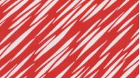 Tela Blanco/Rojo - Tejido de Punto de Seda Estampado con dibujos de rayas blancas sobre fondo rojo.